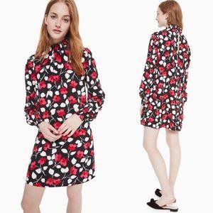 Kate Spade Vintage Floral Fleur Crepe Dress XXS